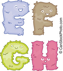 Alphabet Plush Toys - Illustration of Plush Toys Shaped Like...