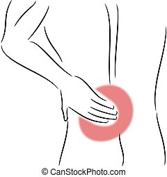Backpain - Illustration of a man with backpain
