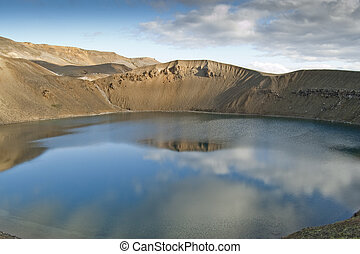 Viti volcano Iceland - Viti is a smaller explosion crater...