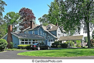 The American Dream - Photo of a house in an affluent...