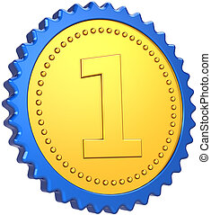 First place award medal icon
