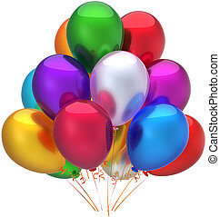 Happy birthday balloons decoration - Party balloons birthday...
