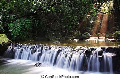 Landscape picture with waterfall