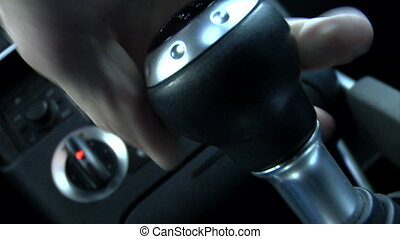Sports Car Shift - This is a canted close up shot of a shift...