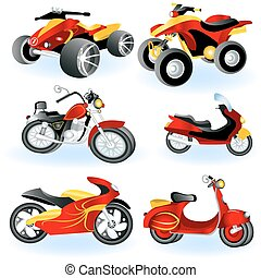 Motorcycle icons 2 - A collection of 6 different motorcycle...