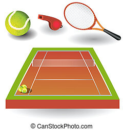 Tennis icons 1 - A collection of different color tennis...
