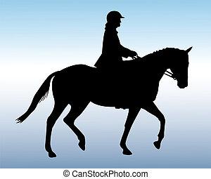 Equestrian silhouette - vector