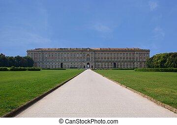 caserta, real, Palácio
