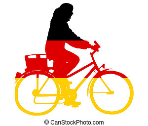 German biking woman
