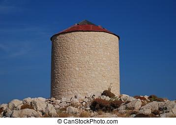 Stone windmill, Halki