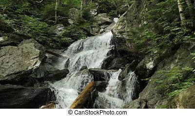 Vermont waterfall Closeup - Closeup of mountain stream and...