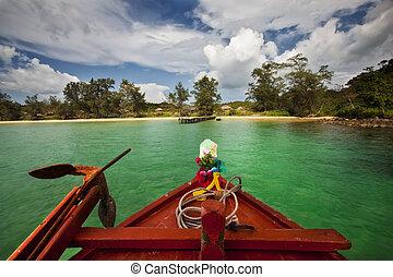 Remote Island - A remote island in Cambodia.