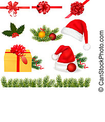 Collection of Christmas objects. Vector.