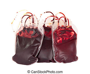 bag of blood on a white background