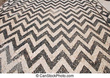 Hoklakia pebble mosaic, Halki - The hoklakia pebble mosaic...