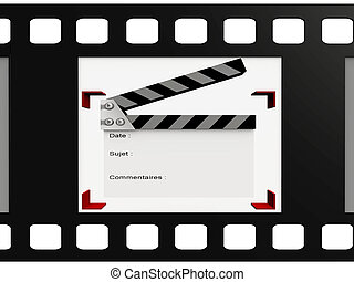 Clipboard in a video film