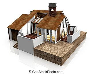 Model of modern home