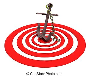 the bulls-eye - the apple-anchor to get to center of the...