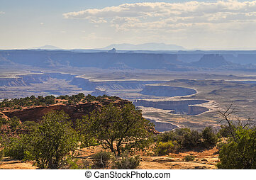 Canyonlands National Park - Green River Overlook at dry...