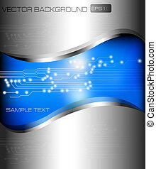 Abstract background with circuit map Vector illustration