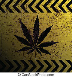 Sign of marijuana - Illustration of marijuana mark on a...