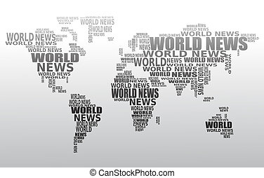 World news concept. Abstract world map made from World news...