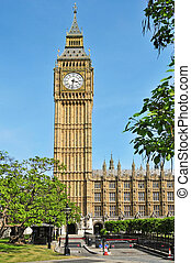 Big Ben and Westminster Palace, London, United Kingdom - a...