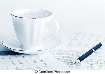 contabilidade, café