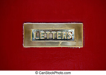 Letterbox - Detail of an old letterbox in the city of Mdina...