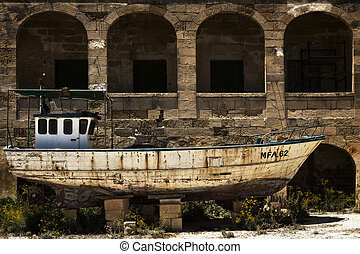 MFA 62 - COMINO, MALTA - JUN 24 - A derelict and disused...