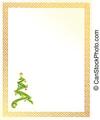christmas tree card illustration design