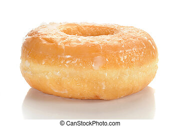 Doughnut - Close-up image of a sugar glazed doughnut studio...