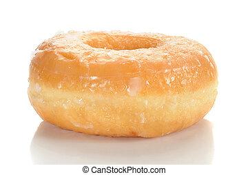 Doughnut - Close-up image of a sugar glazed doughnut studio...