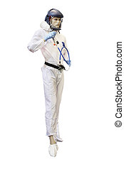 mannequin - The image of mannequin in a white protection...