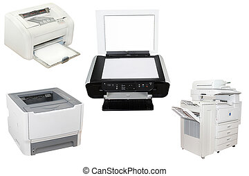 printers - The image of printers under the white background