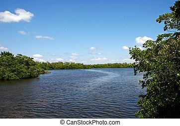 River Landscape - Scenic Landscape Ding Darling Wildlife...