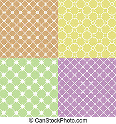 Vector illustration of a set of abstract patterns.