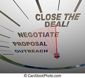 Close the Deal Speedometer Sales Process to Agreement - A...