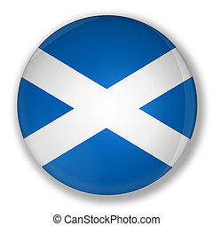 Badge with flag of scotland - Illustration of a badge with...
