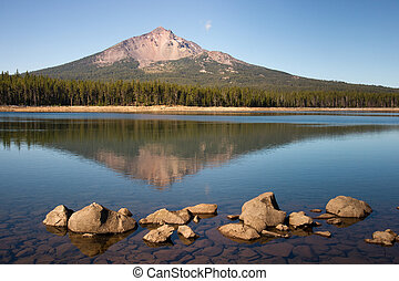 Mount McLoughlin is a steep-sided lava cone built on top of...