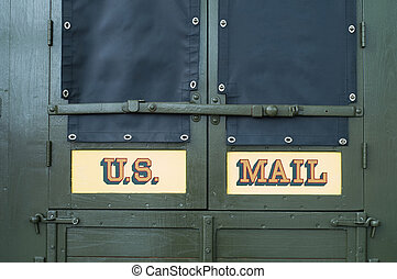 US Mail - The back end of a mail truck
