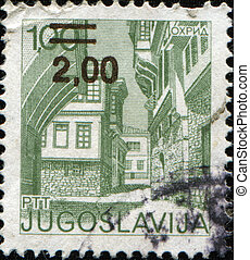 YUGOSLAVIA - CIRCA 1971: A stamp printed in Federal People's...