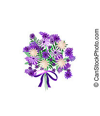 purple flower bouquet - bouquet of purple and lavender...