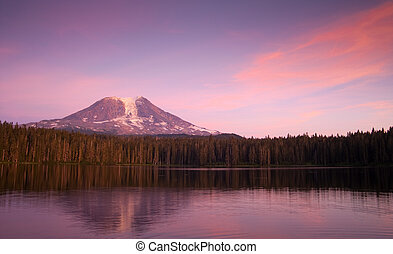 Mount Adams and Lake