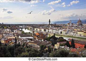 Florence, Italy - Scenic view of Florence, Tuscany, Italy