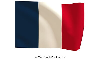 French national flag-010 - The French flag animates