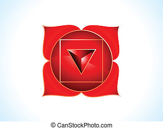 detailed base chakra vector illustration