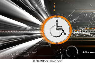 medical impairment - Digital illustration of medical...
