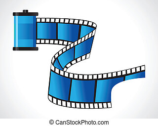 abstract blue film roll vector illustration