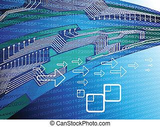 abstract blue digital design vector illustration